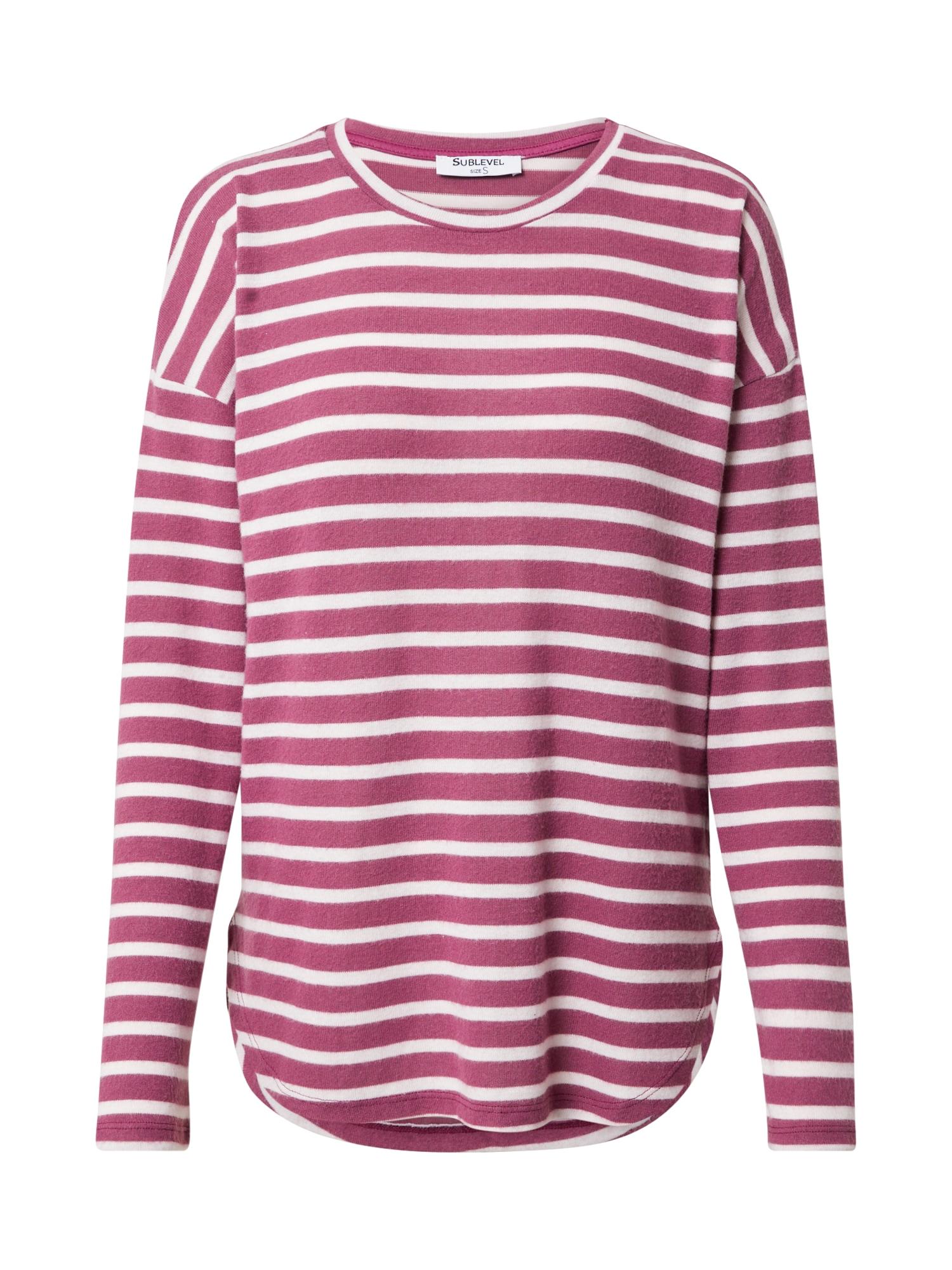 Sublevel Tričko  ružové zlato / biela dámské XL