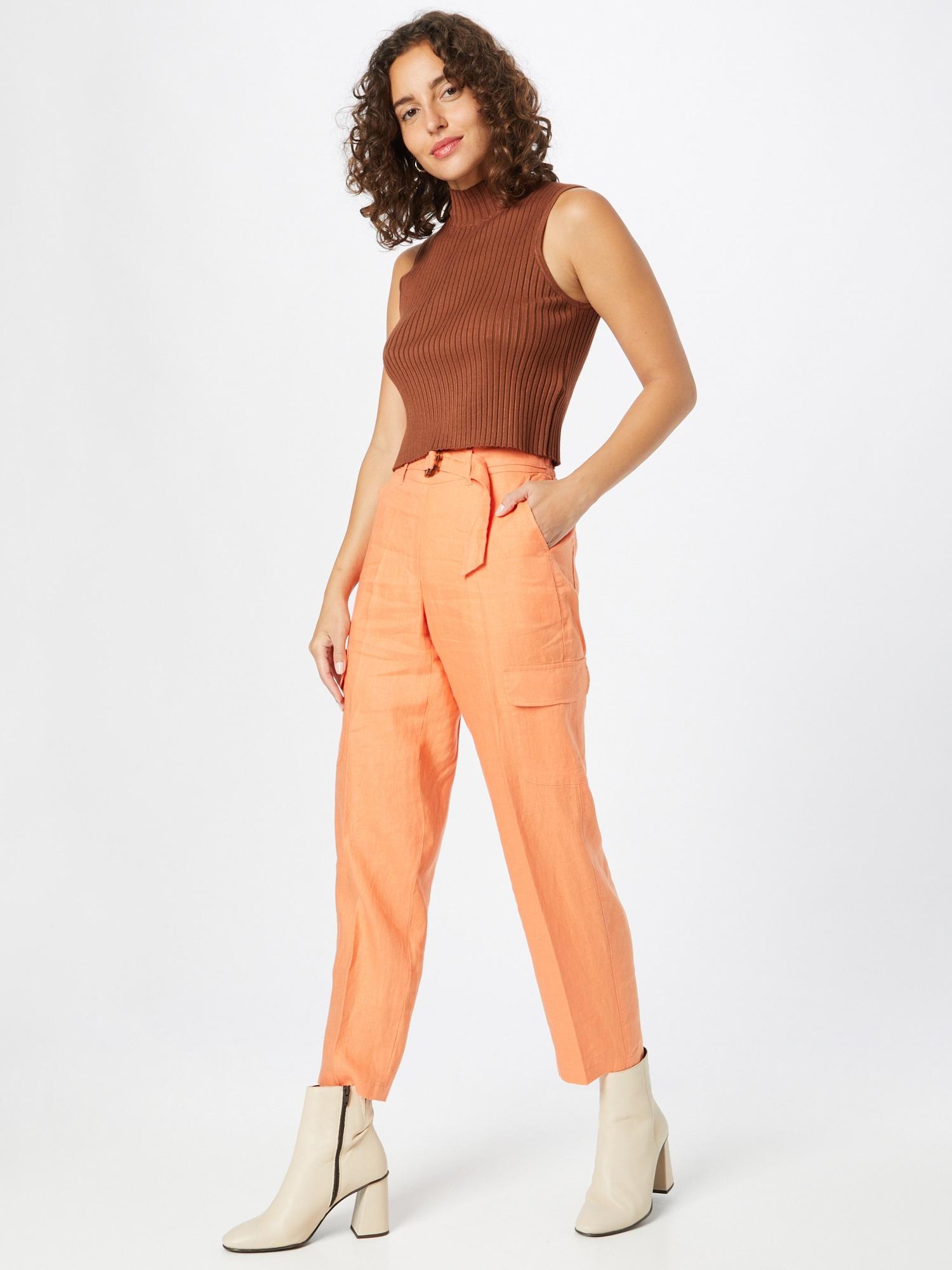TAIFUN Nohavice  oranžová dámské 38
