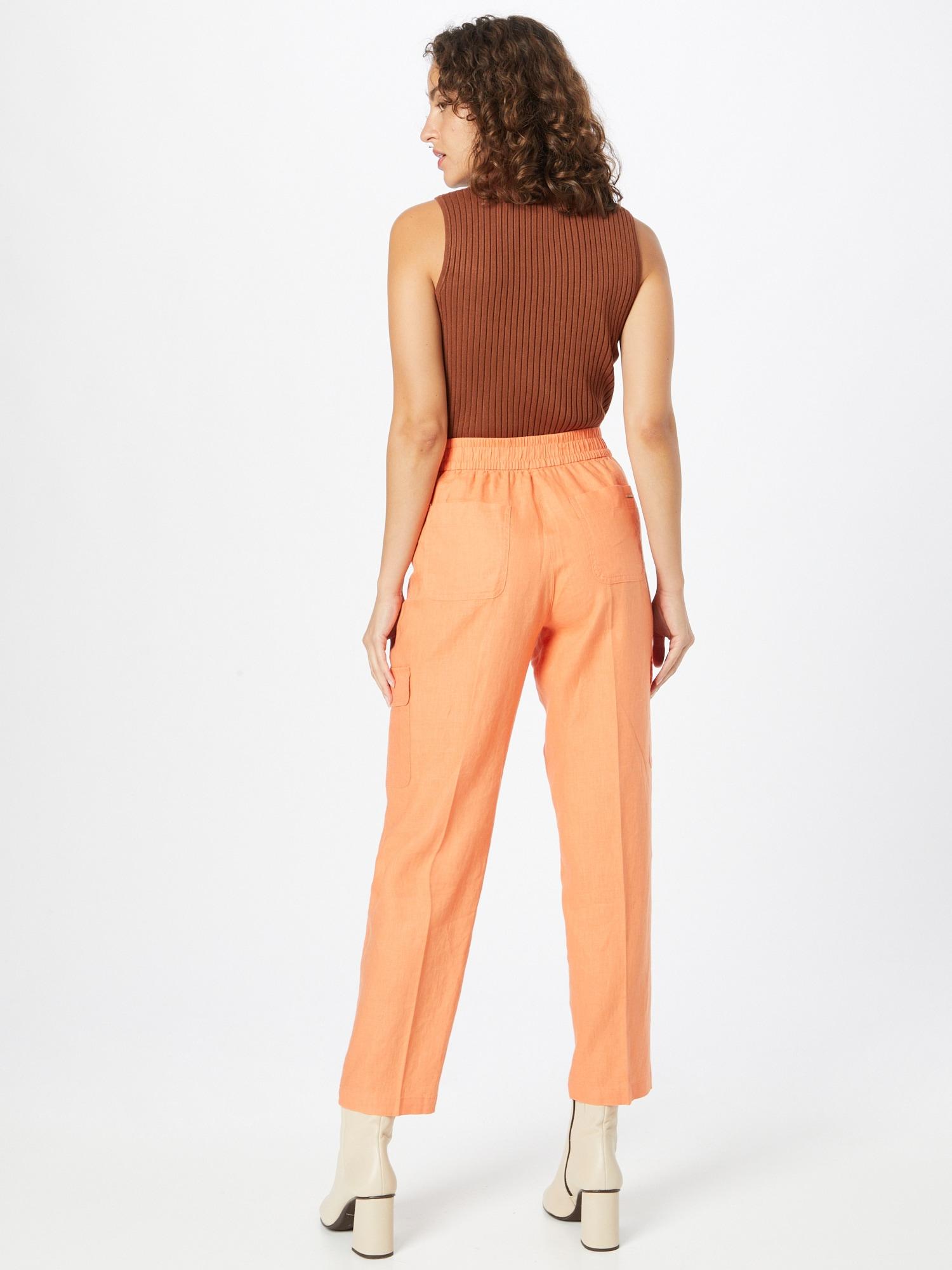 TAIFUN Nohavice  oranžová dámské 40