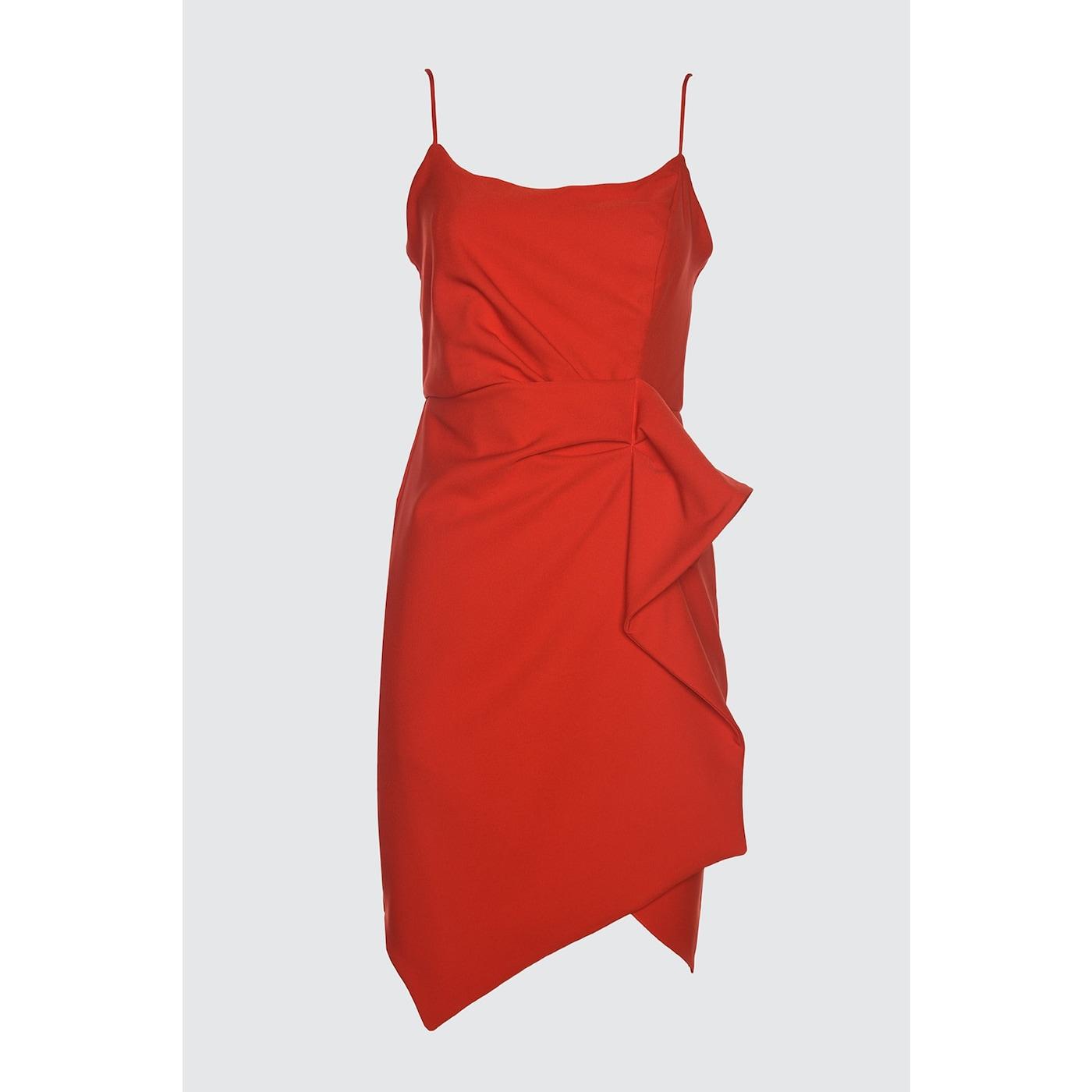 Trendyol Red Waist Detailed Dress dámské 34
