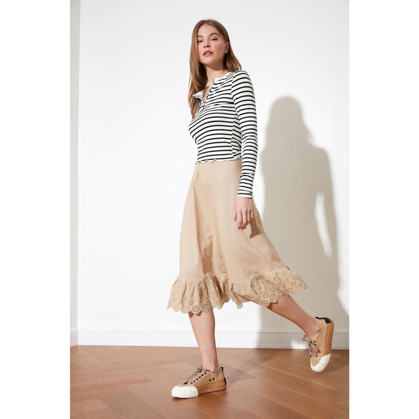 Trendyol Stone Arch skirt dámské 42