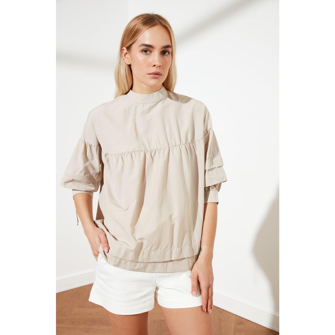 Trendyol Stone Collar Detailed Blouse dámské 34