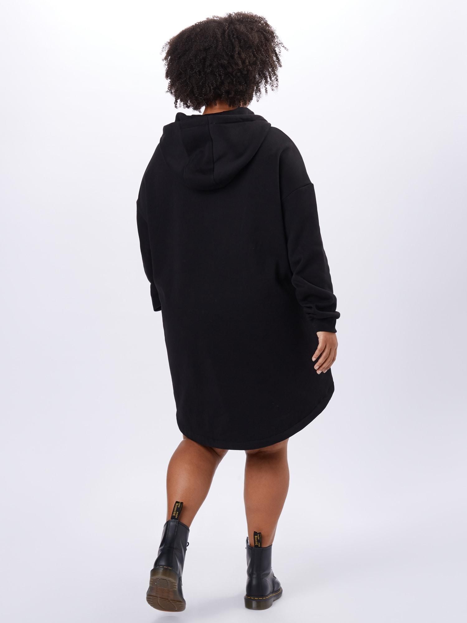 Urban Classics Curvy Mikina  čierna dámské 4XL