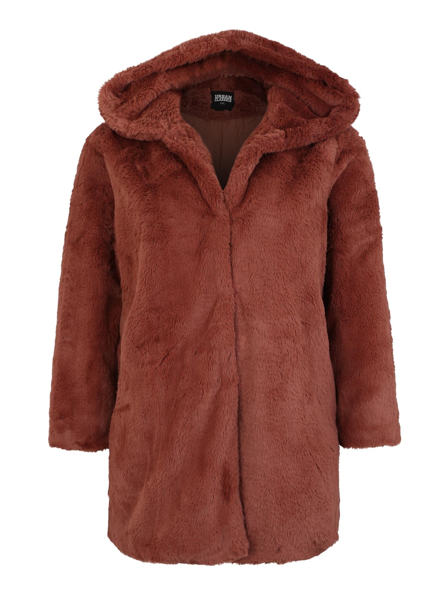 Urban Classics Curvy Zimný kabát  hrdzavohnedá dámské 4XL