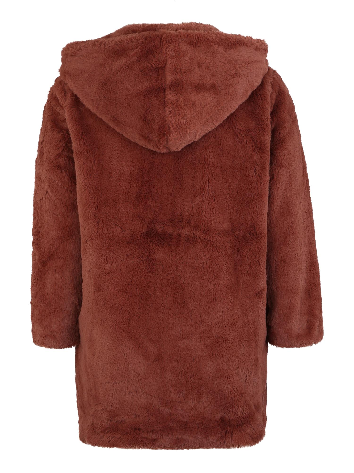Urban Classics Curvy Zimný kabát  hrdzavohnedá dámské XXXL