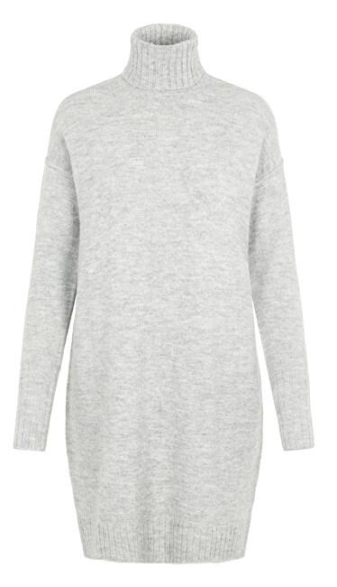 Vero Moda Dámske šaty VMLUCI LS ROLLNECK DRESS Light Grey Melange S dámské