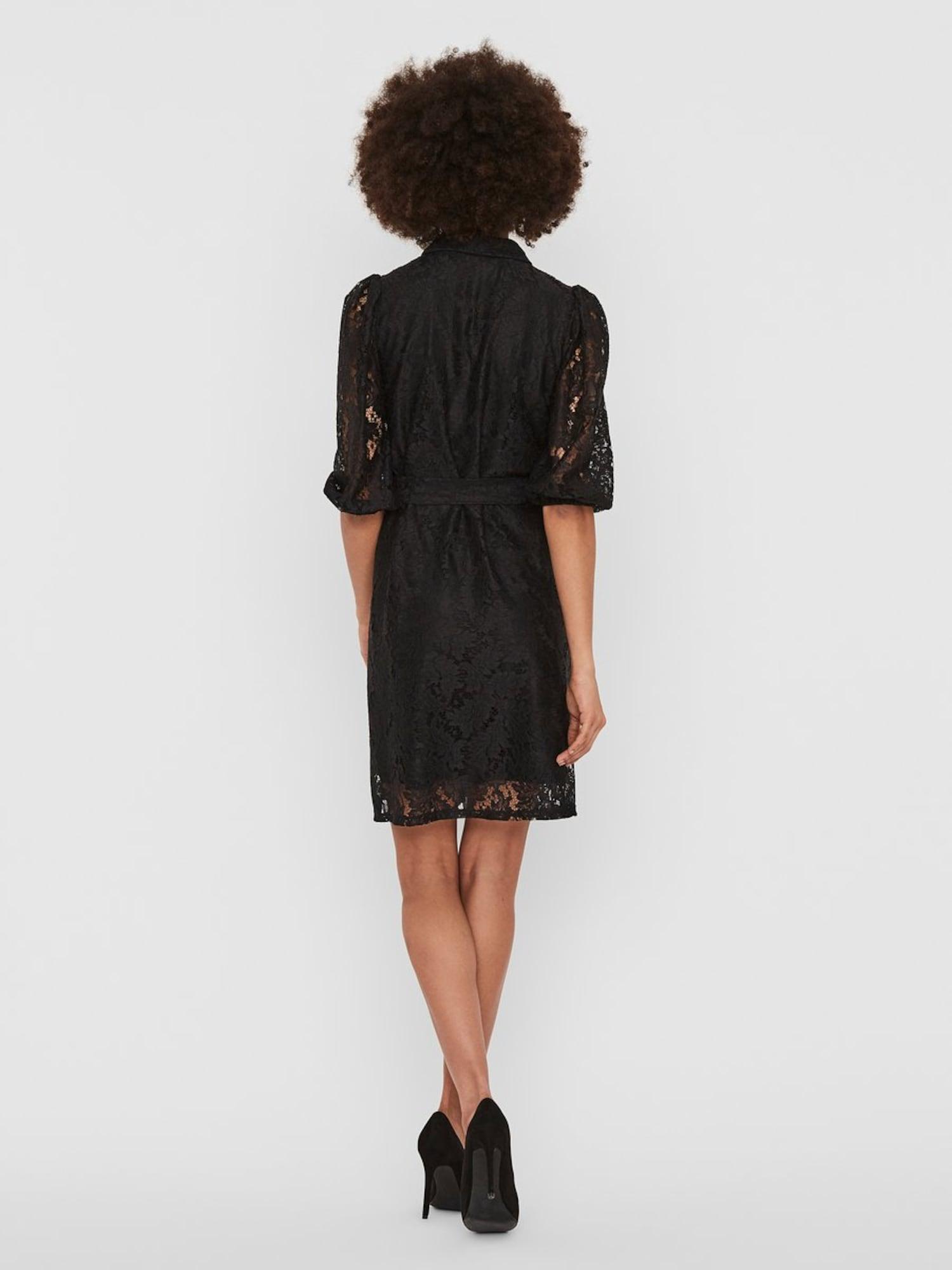 VERO MODA Košeľové šaty BONNA  čierna dámské 40