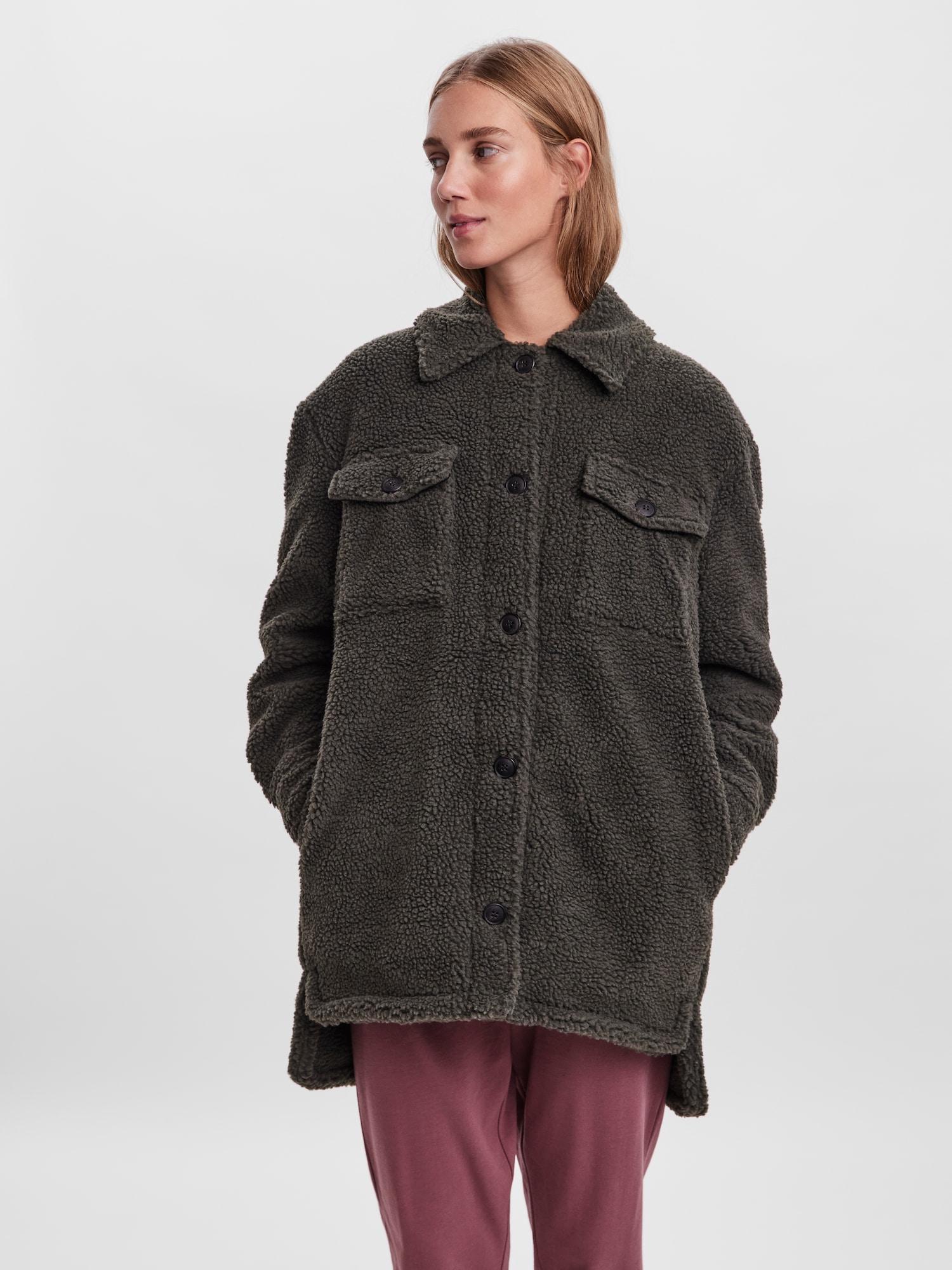 VERO MODA Prechodný kabát Hope  zelená dámské XL