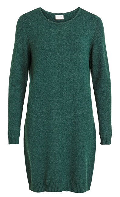 Vila Dámske šaty vírili L / S KNIT DRESS - Noosa Pine Grove XS dámské