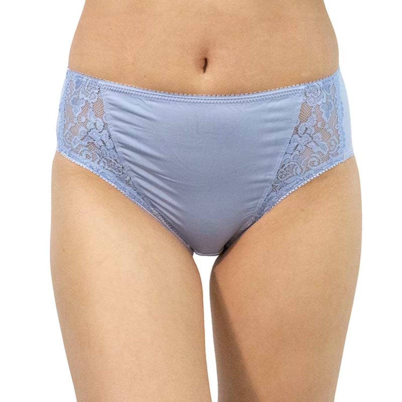 Women's panties Gina blue with lace  dámské Neurčeno L