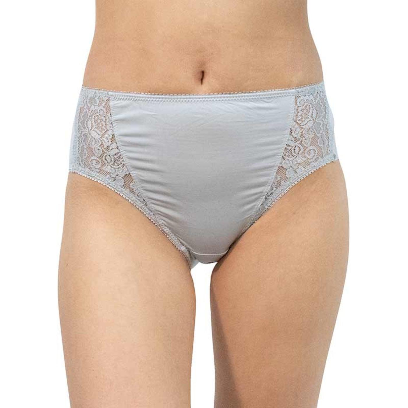 Women's panties Gina gray with lace  dámské Neurčeno L