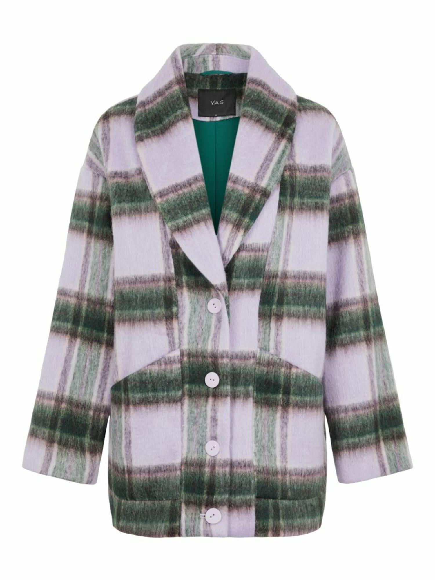 Y.A.S Prechodná bunda HAIA  zelená / baklažánová / levanduľová dámské M