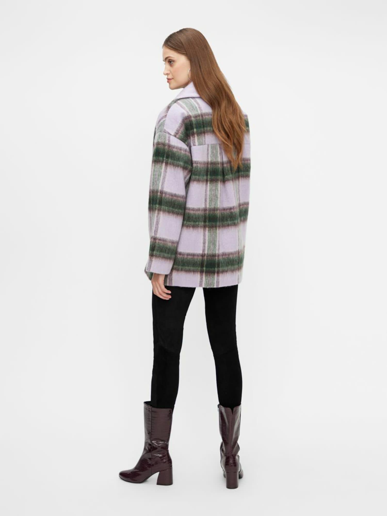 Y.A.S Prechodná bunda HAIA  zelená / baklažánová / levanduľová dámské XS