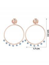 ANIA HAIE Náušnice  ružové zlato / modrá dámské One Size