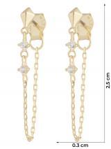 ANIA HAIE Náušnice  zlatá / biela dámské One Size
