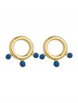 ANIA HAIE Náušnice  zlatá / modrá dámské One Size
