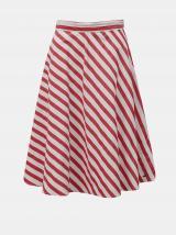 Bielo-červená pruhovaná sukňa ZOOT Simona dámské M