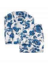 Cath Kidston Pyžamo  krémová / modrá / sivá / biela / ružová dámské L
