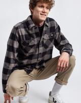 Dickies Sacramento Shirt Grey Melange S pánské Kocky S