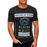 Edoti Mens printed t-shirt S1406 pánské DARK GREY M