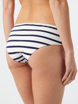ETAM Bikinové nohavičky  biela / námornícka modrá dámské XL