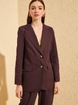 Hnedé sako Trendyol - XL dámské fialová XL