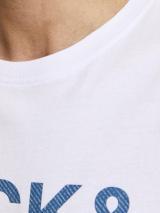 Jack & Jones Slices Tričko Biela pánské XL