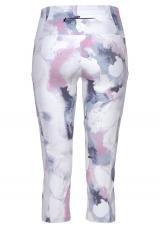 LASCANA ACTIVE Športové nohavice LA Performance Basic Cap  biela / námornícka modrá / ružová dámské L