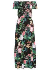Maxi šaty s potlačou dámské čierna 36,38,40,42,44,46,48,50,52,54
