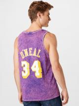 Mitchell & Ness Tričko  tmavofialová / fialová / biela / žltá pánské L