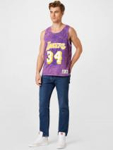 Mitchell & Ness Tričko  tmavofialová / fialová / biela / žltá pánské XL