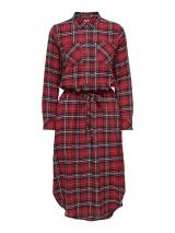 ONLY Košeľové šaty PINA  červená / čierna / biela dámské 32