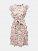 Ružovo-biele kvetované šaty so zaväzovaním ZOOT Debora dámské biela L