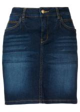 Strečová džínsová sukňa dámské modrá 50,34,36,38,40,42,44,46,48