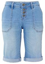 Strečové džínsové bermudy dámské modrá 34,36,38,40,42,44,46,48,50