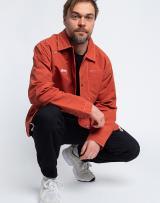 Stüssy Folsom Coach Jacket BURNT RED S pánské Červená S