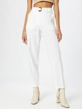 TAIFUN Plisované nohavice  šedobiela dámské 42