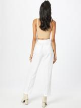 TAIFUN Plisované nohavice  šedobiela dámské 48