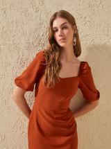 Tehlové šaty Trendyol - L dámské oranžová L