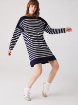 Tmavomodré pruhované šaty Lacoste dámské tmavomodrá M