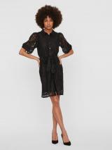 VERO MODA Košeľové šaty BONNA  čierna dámské 34