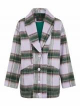 Y.A.S Prechodná bunda HAIA  zelená / baklažánová / levanduľová dámské L