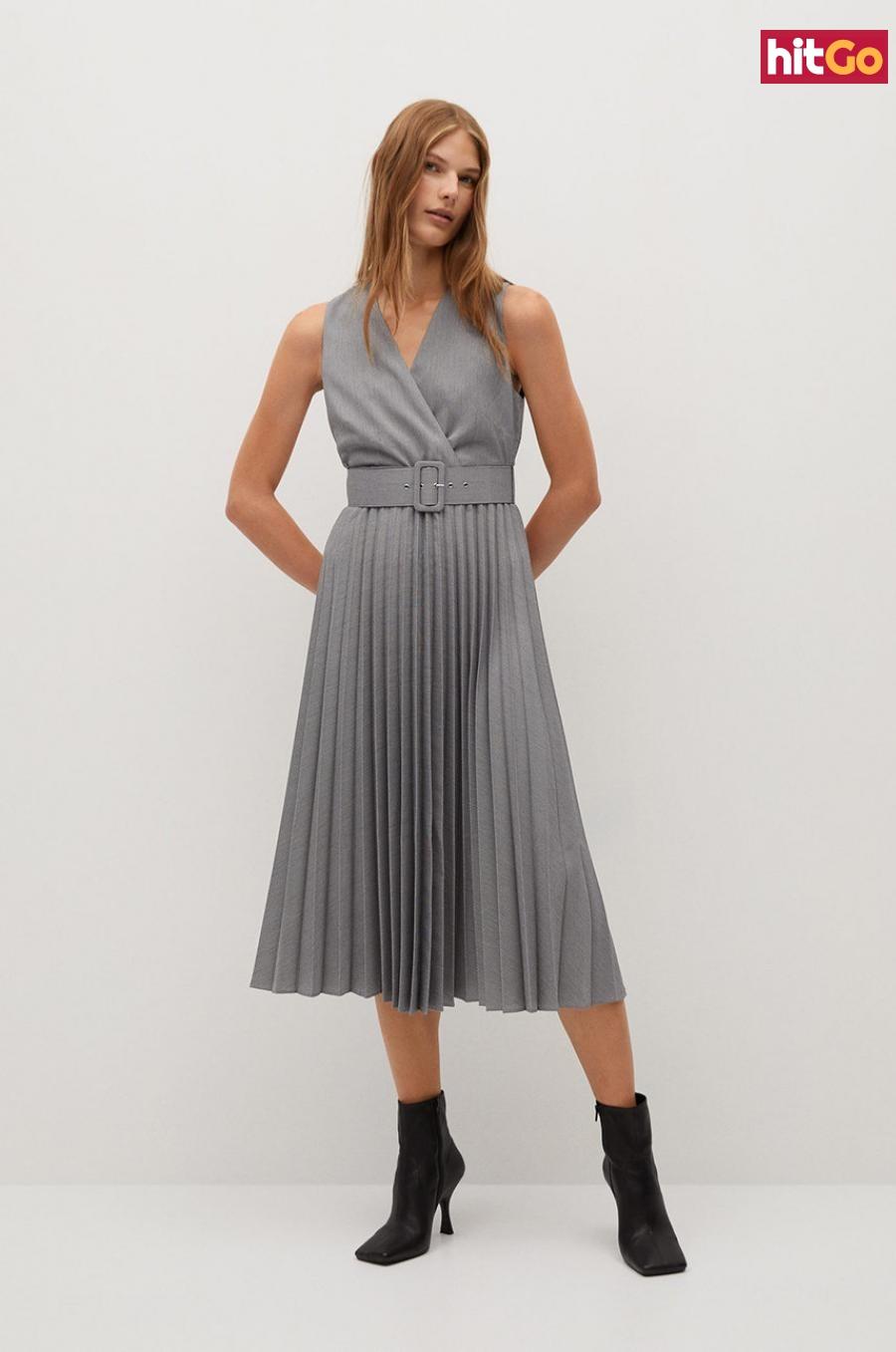 Mango - Šaty Lady dámské sivá XS
