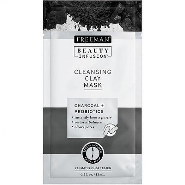 Freeman Čistiaca ílová maska Aktívne uhlie a probiotiká Beauty Infusion ( Cleansing Clay Mask) 15 ml dámské
