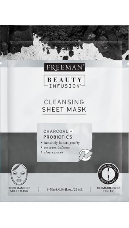 Freeman Čistiaca látková maska Aktívne uhlie a probiotiká Beauty Infusion ( Cleansing Sheet Mask) 25 ml dámské