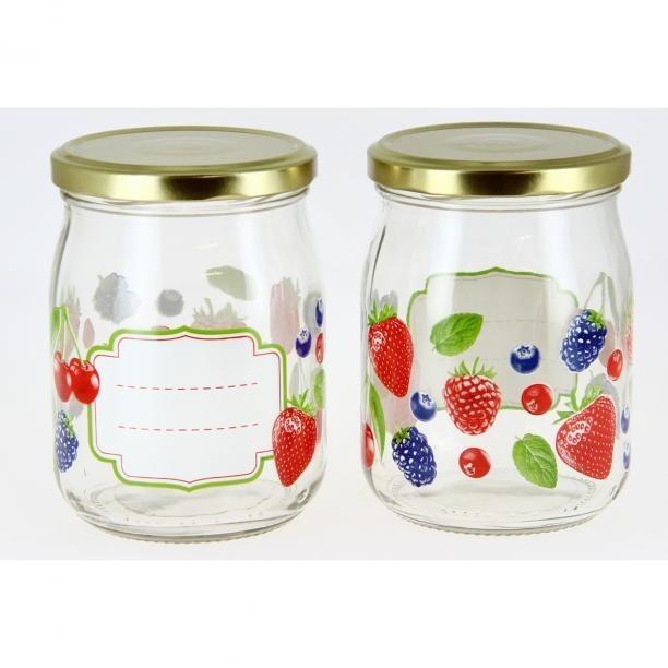 Mäser Sada zaváracích pohárov Ovocie 500 ml, 6 ks