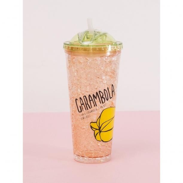 Smoothie bottle cup with a straw and a green lid Neurčeno One size