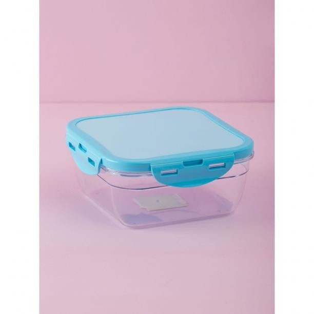 Square blue food container Neurčeno One size
