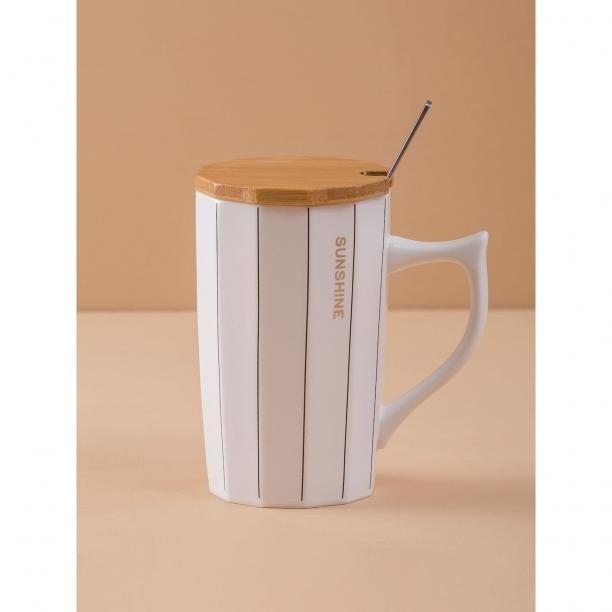 White striped mug Neurčeno One size