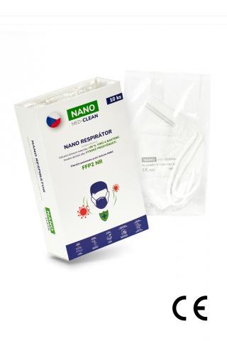 10x FFP2 respirátor NANO MED.CLEAN - B03/biela f00026